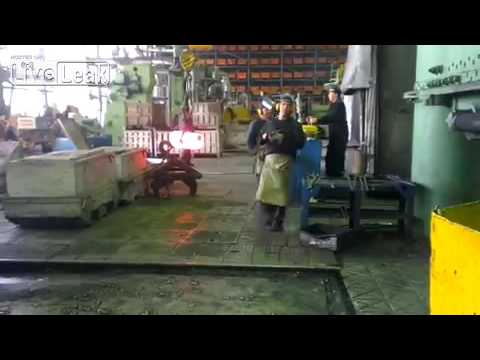 Industrial power hammer forging steel