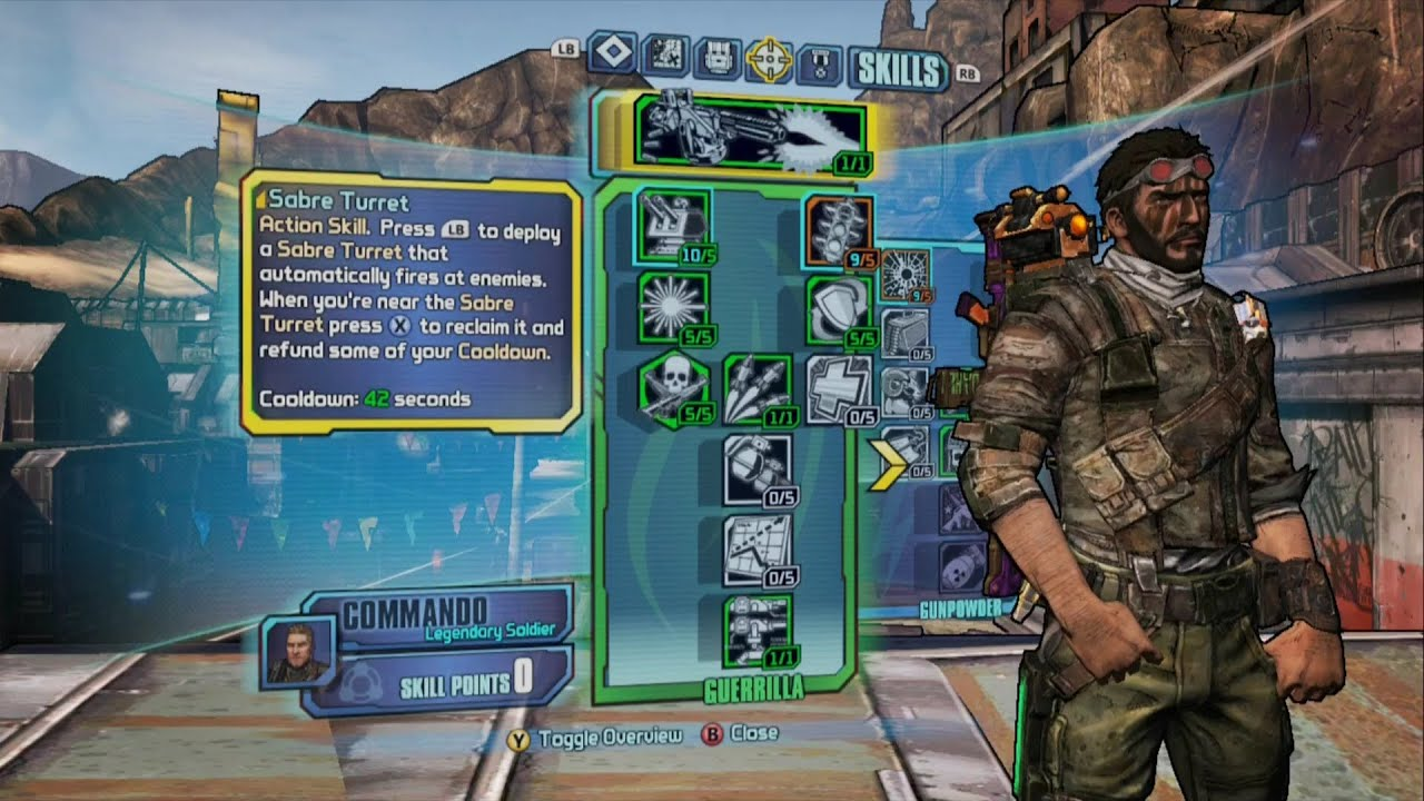Borderlands  Commando Guerrilla Build