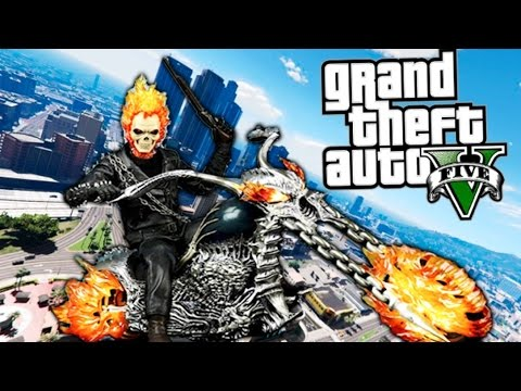 GTA V GHOST RIDER EL MOTORISTA VENGADOR FANTASMA !! NUEVO INCREIBLE MOD GTA 5 PC MODS Makiman