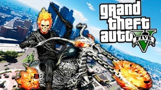 GTA V GHOST RIDER EL MOTORISTA VENGADOR FANTASMA !! NUEVO INCREIBLE MOD GTA 5 PC MODS Makiman