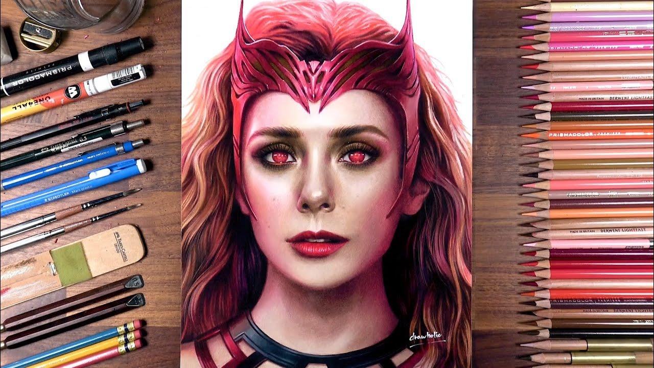 Drawing Scarlet Witch (Elizabeth Olsen)   drawholic
