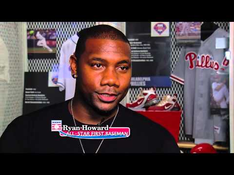 Ryan Howard Visits the Baseball Hall of Fame
