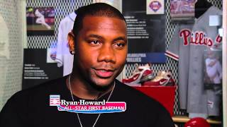 Ryan Howard Visits the Baseball Hall of Fame