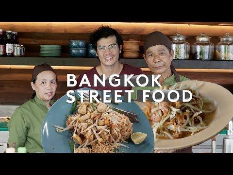Street Food in Bangkok - Delicious Som Tam, Boat Noodles and Catfish Salad