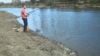 Река Яя.Рыбалка с братонами.