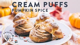 Pumpkin Spice Cream Puffs - Honeysuckle