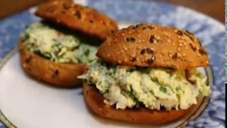 Юлия Высоцкая — Бутерброд с раками и сыром маскарпоне