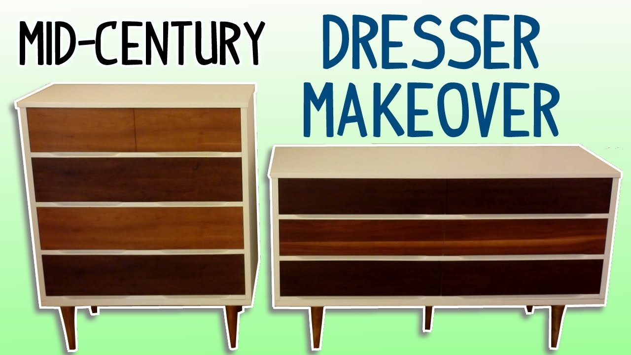 midcentury dresser makeover (with homemade wood stain)  youtube -