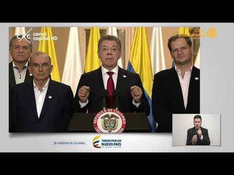 Alocución presidencial de Juan Manuel Santos sobre resultados del  Plebiscito