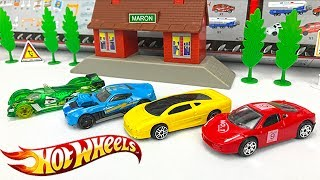 Carros de Carrera para Niños - Coches Hot Wheels Deportivos - Videos Infantiles