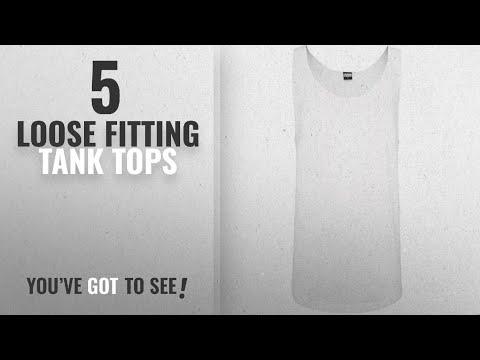 Top 10 Loose Fitting Tank Tops [Winter 2018 ]: Urban Classics Mens Tanktops Long Shaped Open Edge