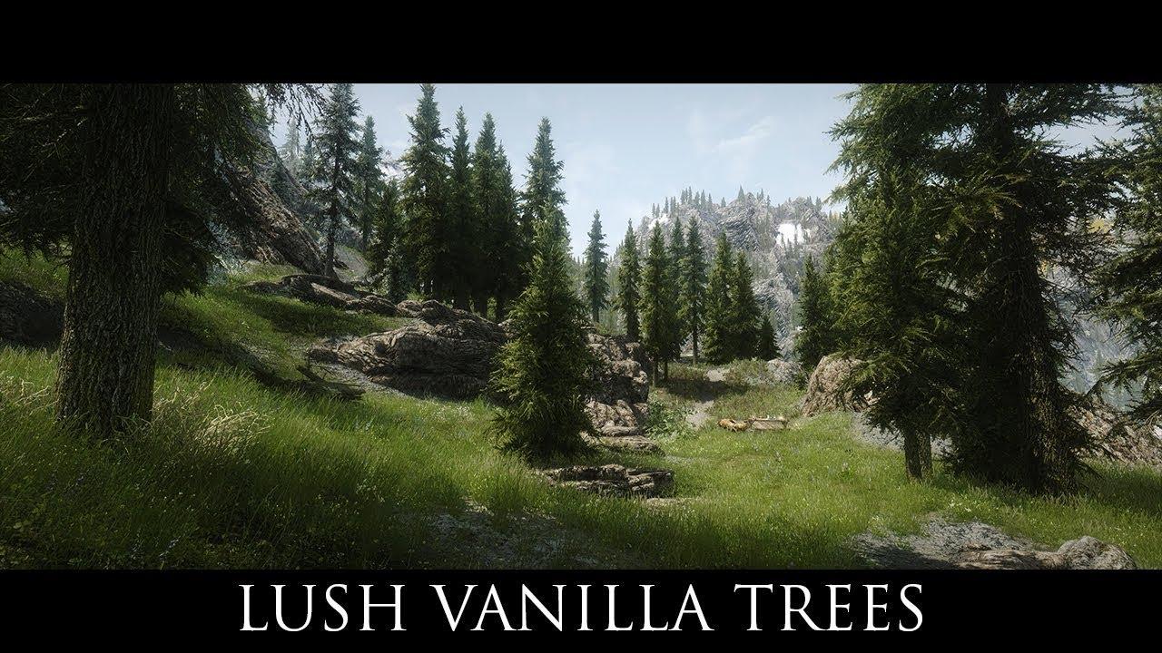 TES V - Skyrim Mods: Lush Vanilla Trees