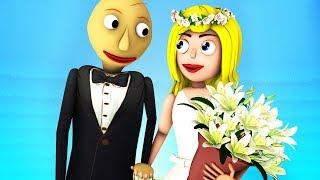 Свадьба Балди и Балдины (Девушка 2 Baldi's Basics Соник 3D SFM Анимация)
