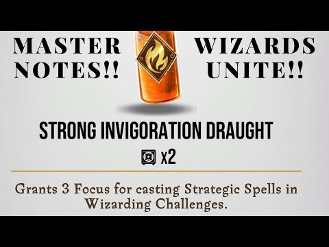 Wizards Unite Potion Master Notes Strong Invigoration Draught!!