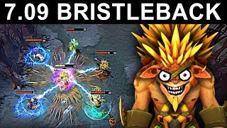 AMAZING BRISTLEBACK PATCH 7.09 DOTA 2 NEW META GAMEPLAY #31 (gattu BRISTLEBACK)