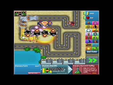 Bloons Tower Defense 4 - Track 1 - Easy - Level 1-132 *NO MISSES*