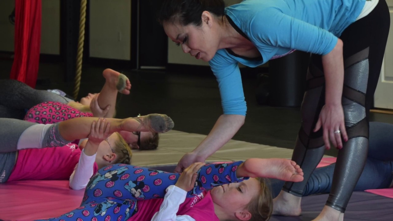 Aerial Fitness Aerial and Contortion Workshop for Kingman Dance Divas with Coach Kristi Toguchi