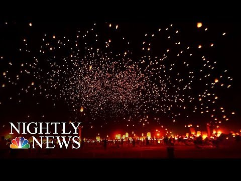 Rise Festival: Releasing Light And Love Into The Nevada Sky | NBC Nightly News