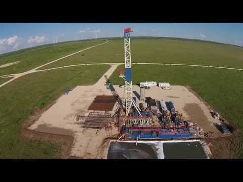 Patriot Energy Drilling Rig Footage with Aerial Shots