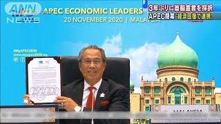 APECオンライン形式で開催 3年ぶりに首脳宣言採択(2020年11月21日) - YouTube