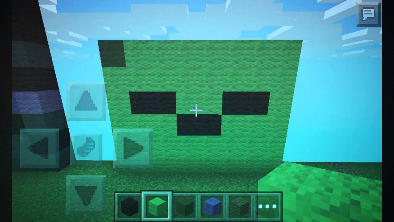 minecraft pixel art: zombie face - YouTube