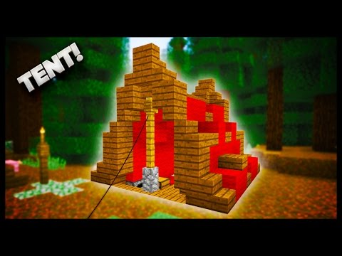 how to build a tent in minecraft xbox 360