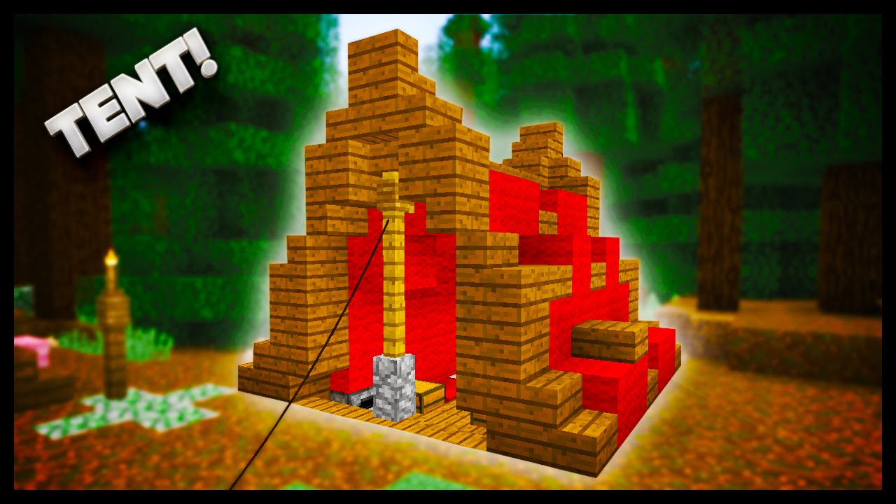 Minecraft - How To Make A Tent - YouTube
