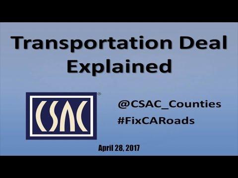 CSAC Webinar - Transportation Deal Explained -- April 28, 2017