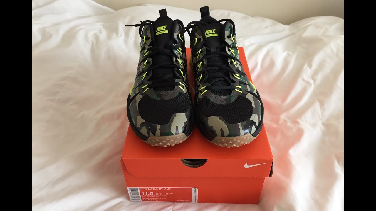 e7484498f0a24 Nike Lunar Trainer 1 Tr1 AMP Shoes Unboxing and Review Camo - YouTube