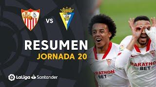 Resumen de Sevilla FC vs Cádiz CF (3-0)