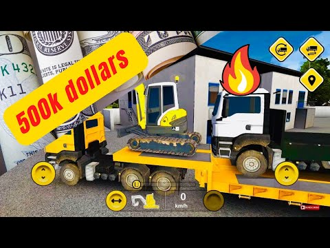 Bau Construction Simulator - Android Ios Gameplay With Overloaded Trailer