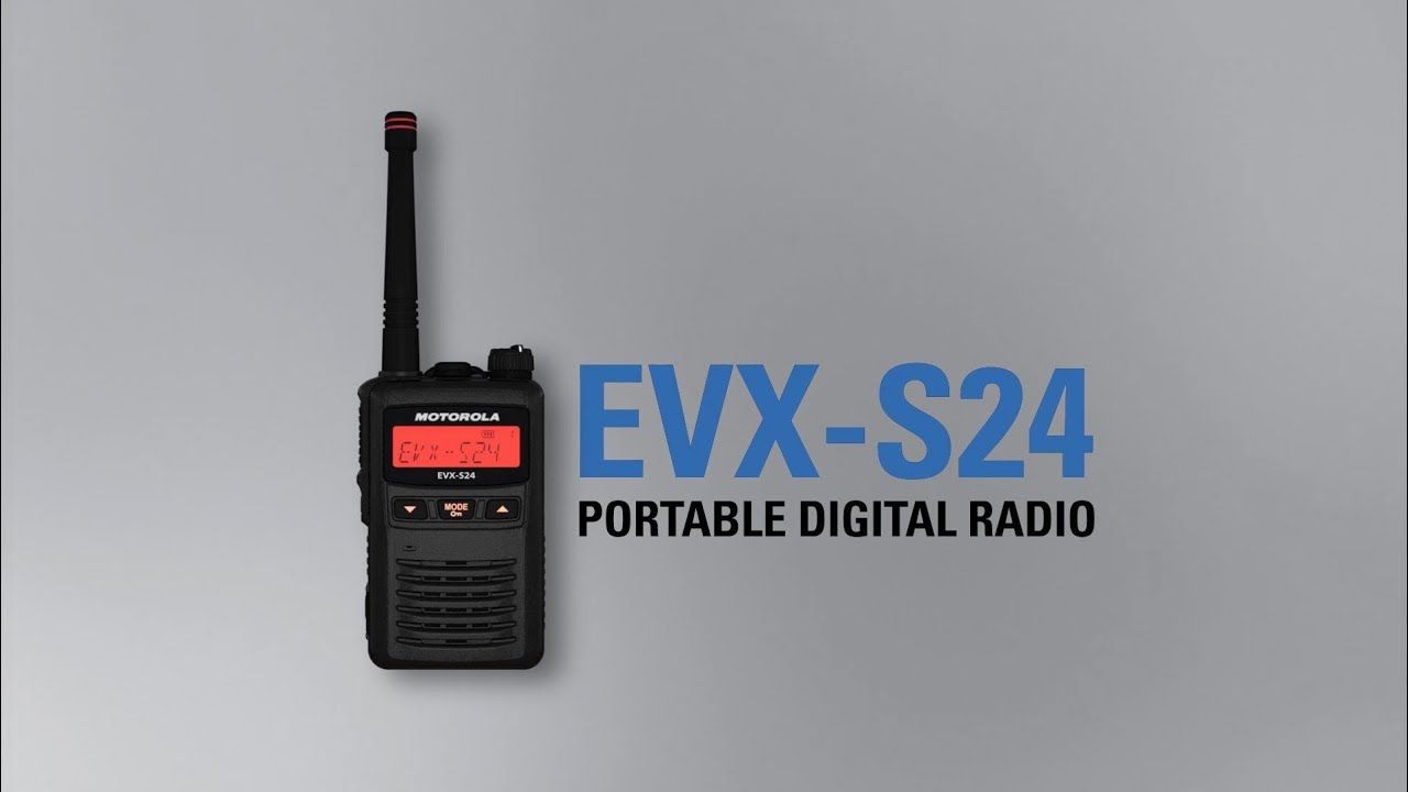 EVX-S24 Portable Digital Two-Way Radio: Compact, Discreet, Lightweight