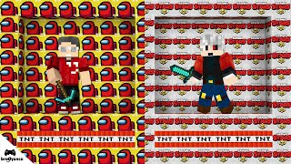 AMONG US VS BRAWL STARS OYUN ODASI ŞANS BLOKLARI SAVAŞI  Minecraft