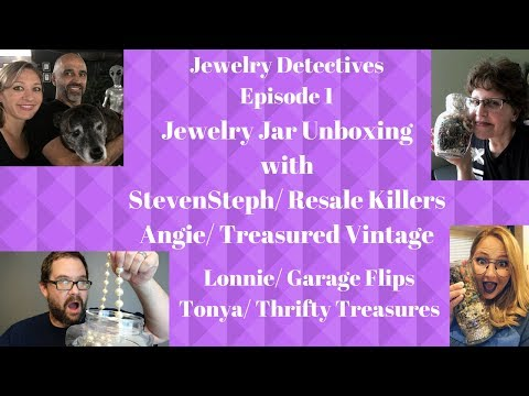 Jewelry Detectives Jewelry Jar Unboxing with StevenSteph Resale Killers Episode 1