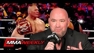 Dana White on Brock Lesnar's Status with WWE (UFC 226 Post-Fight)