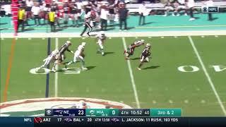 Stephon Gilmore Pick-6   Patriots vs Dolphins