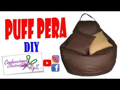 Diy como hacer un puff pera parte 1 aprenda a ganar - Como hacer un puff pera ...