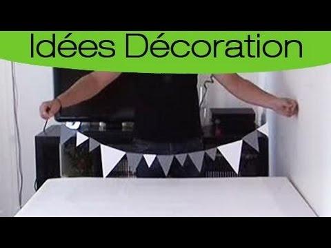 Comment fabriquer une guirlande de fanions personnalis s - Comment faire une guirlande de noel en papier ...