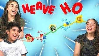 O JOGO MAIS ENGRAÇADO DE MASSINHAS!! (Heave Ho) - (The Funniest Pasta Game!!)