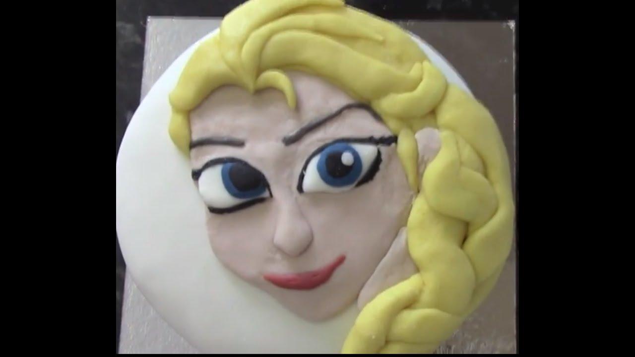 How to make a Disney Frozen Elsa Cake - tutorial - YouTube