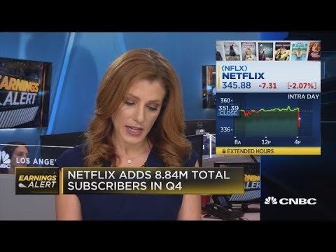Netflix shares drops on mixed fourth-quarter earnings