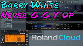 Roland Cloud Barry White Never Gonna Give You Up Instrumental ( fl studio )