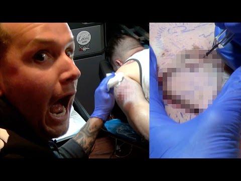 Bad Tattoo Prank Goes Too Far! Horrible Tattoo On Friend's Arm!!