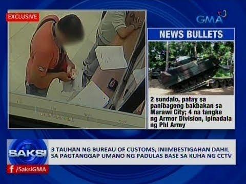 Saksi: 3 tauhan ng Bureau of Customs, iniimbestigahan dahil sa pagtanggap umano ng padulas
