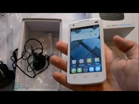 Распаковка Alcatel One Touch 992D (unboxing): комплектация, включение