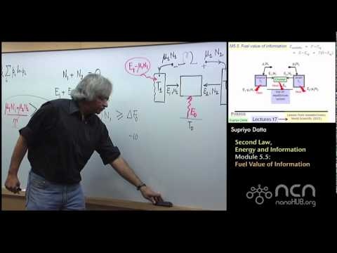 nanoHUB-U Fundamentals of Nanoelectronics II: M5.5 Second Law, Energy, Information - Information