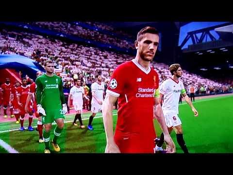 PES 2018. Liverpool-Sevilla FC. Gameplay.