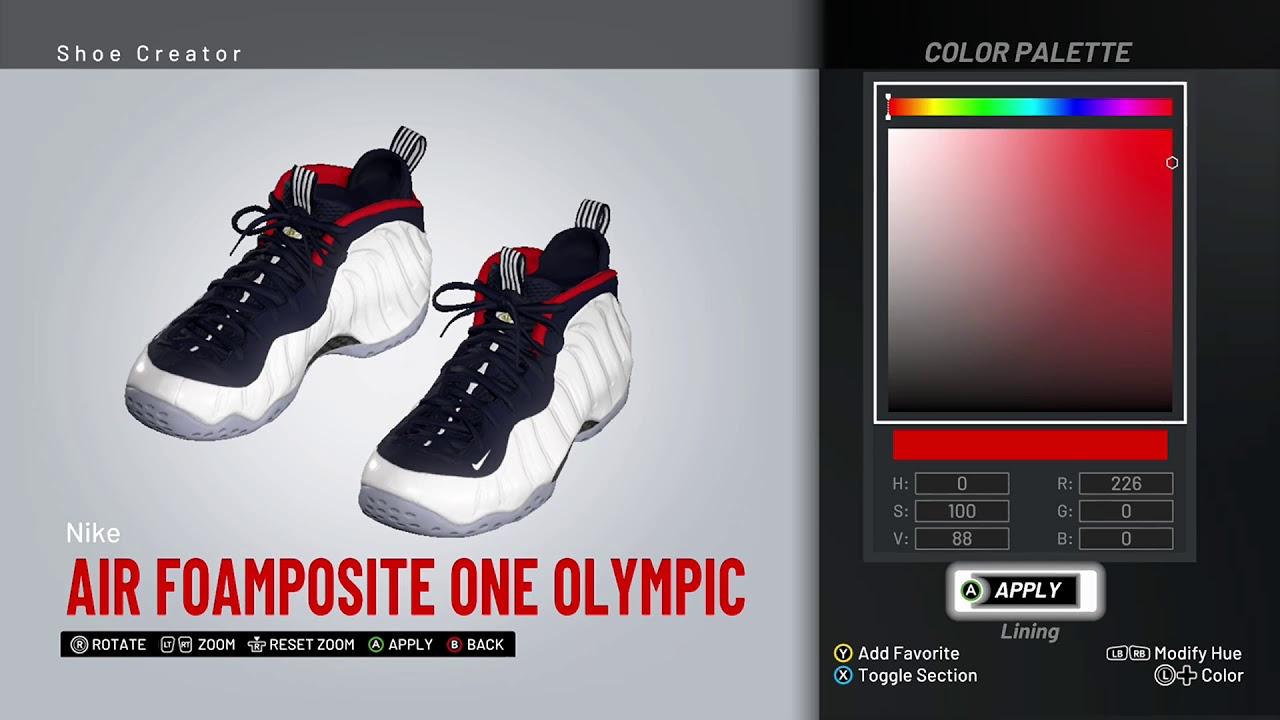 b025713fe41 NBA 2K19 Shoe Creator - Nike Foamposite One