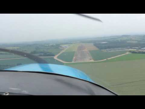 Returning to Shobdon Airfield, following a pleasant flight over Herefordshire.