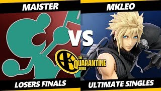 May Major Losers Finals - Maister (Game & Watch) Vs. MkLeo (Cloud) Smash Ultimate - SSBU